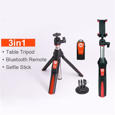 Tongsis Benro Smart 3 In1 With Remote Bluetooth For Gopro Smartphone benro 33inch handheld mini tripod 3 in 1 self portrait monopod phone selfie stick w bluetooth
