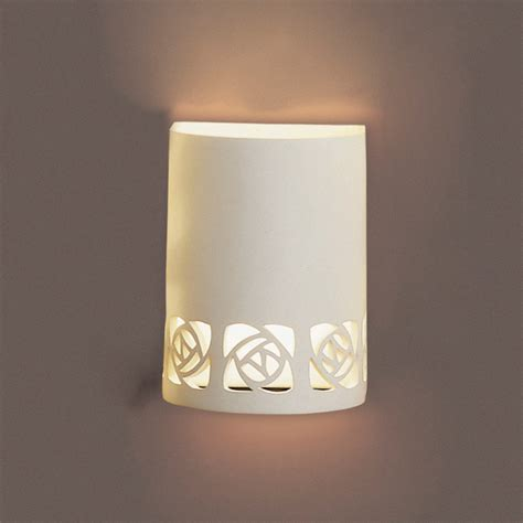 Ceramic Wall Sconce 7 Quot Ceramic Cylinder Sconce W Abstract Cut Outs Contemporary Ceramic Interior Wall Sconces