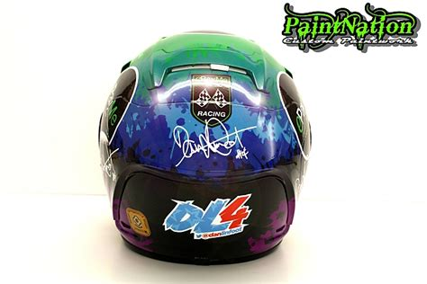 Helmet Shoei Dan Arai dan linfoot replica race helmets