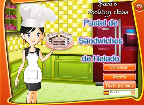 cocinar con sara cocina con sara pastel de helado juegos de cocina