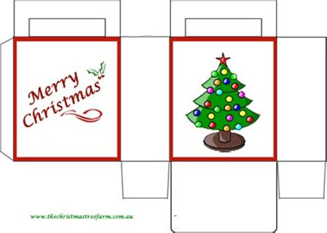 printable christmas tree gift boxes best photos of christmas present box template christmas