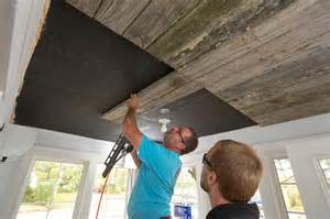how to install a wood ceiling how to install a reclaimed wood ceiling treatment how