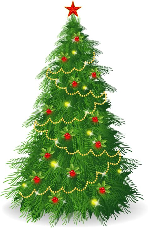 delightful christmas tree illustrations the clip art