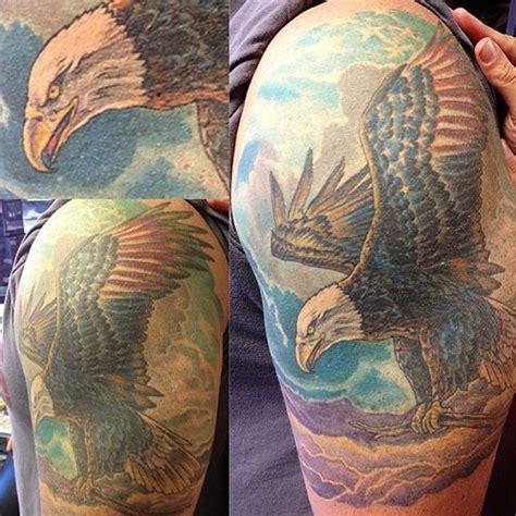 eagle quarter sleeve tattoo 65 bald eagle tattoo ideas 2018