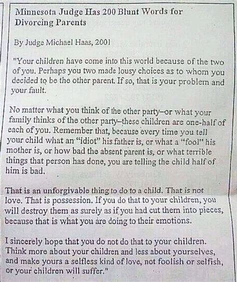 great letter advice from judge for divorced divorcing
