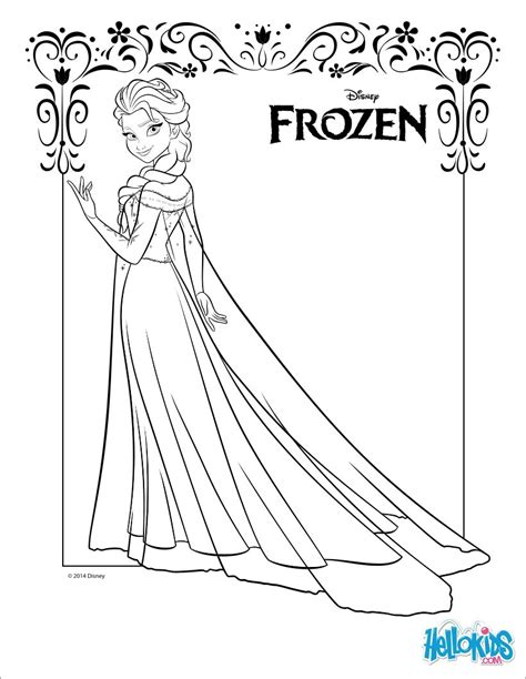 frozen coloring pages elsa online frozen coloring pages elsa coloring pinterest elsa