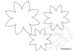 Flower Colouring Template by Flower Template Coloring Page