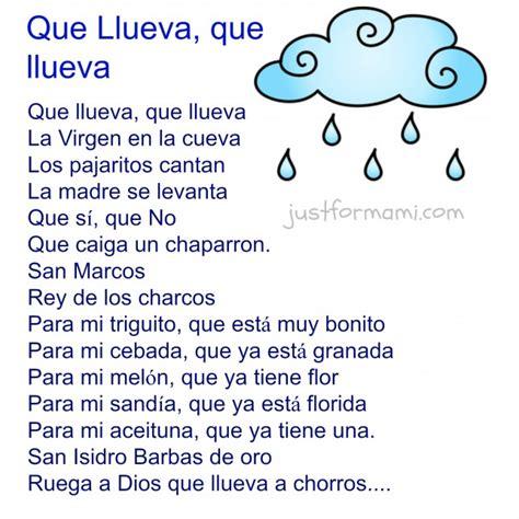 rimas cortas para ni os el payaso just for mami rima para ni 241 os que llueva que llueva just for mami