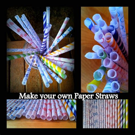 How To Make Paper Straws - make your own paper straws look at what i made