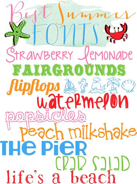 printable beach fonts 17 best images about fonts on pinterest