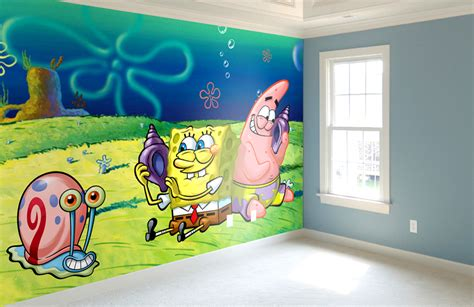 Wallpaper Sticker Spongebob 1 printed wallpaper signserve