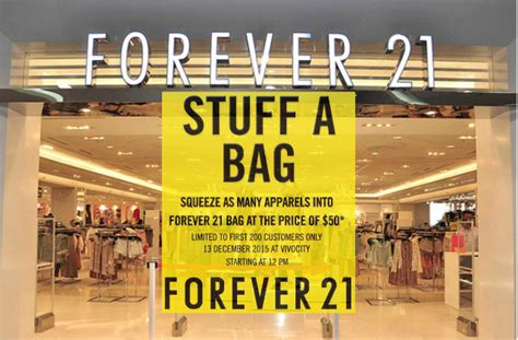Can You Use A Forever 21 Gift Card Online - forever 21 stuff a bag for 50 at vivocity 13 dec 2015 moneydigest sg