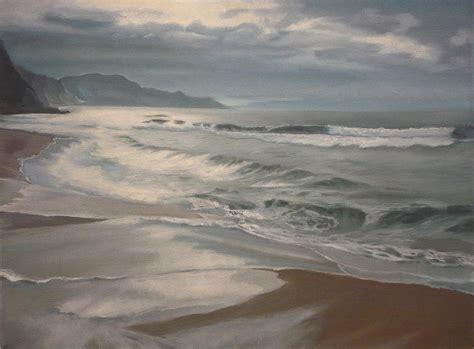 the winter sea winter sea painting by caroline philp
