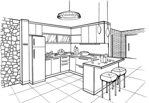 printable coloring pages kitchen kitchen in minimalist style coloring page free printable