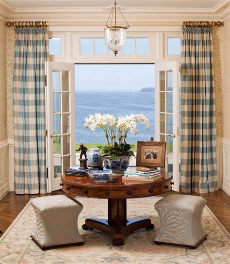 blue buffalo check curtains 15 brilliant french door window treatments