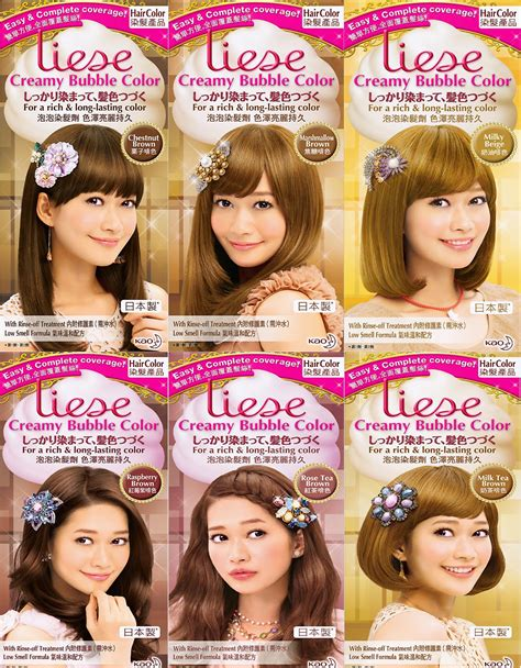 color review review s liese hair dye in tea brown