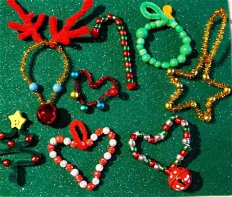 pipe cleaner bead ornaments 1000 images about artsy ornaments for on