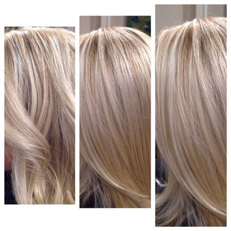 blonde different colours blonde blended babylights highlights using two different