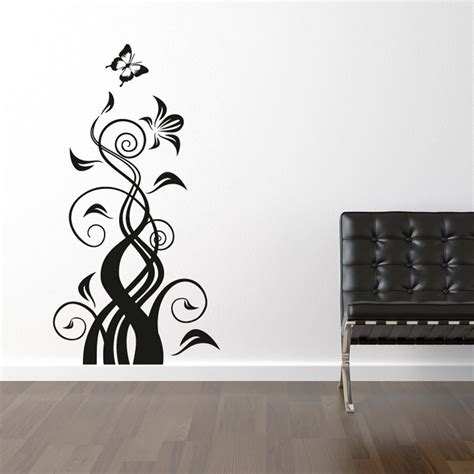 butterfly and flower wall stickers butterfly flower wall sticker wall chimp uk