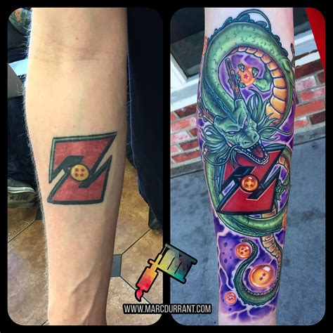 dragon ball z tattoo sleeve z eternal fix up done by me marc