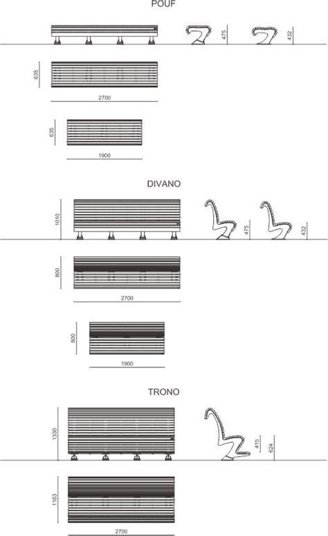 dimensioni panchine panchine curve in legno pouf divano trono metalco