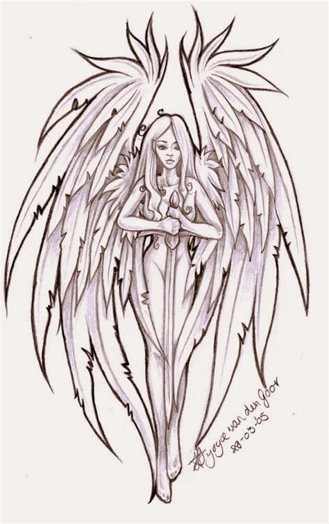 female angel tattoo designs popular tattoos