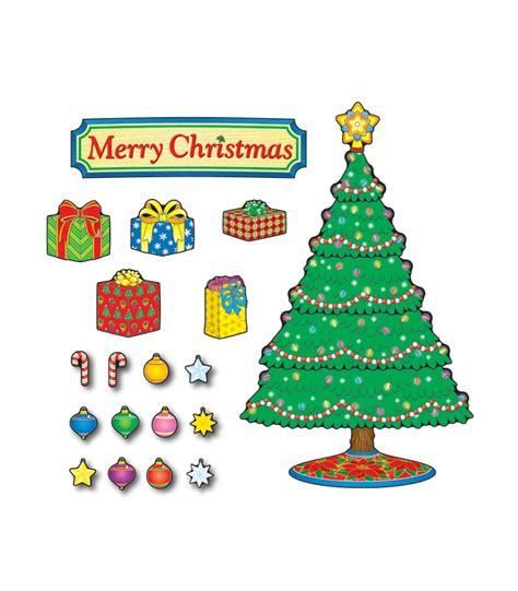 christmas tree mini bulletin board set grade pk 5 carson