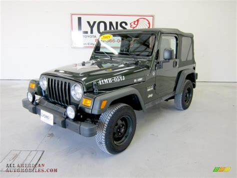 2005 Jeep Wrangler Willys Edition For Sale 2005 Jeep Wrangler Willys Edition 4x4 In Moss Green