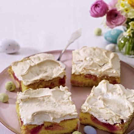 rhabarber baiser kuchen rhabarber baiser kuchen vom blech rezept chefkoch