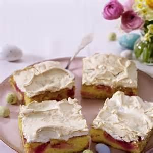 kuchen rhabarber baiser rhabarber baiser kuchen vom blech rezept chefkoch