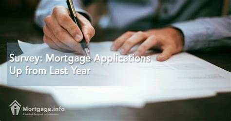 Mba Mortgage Applications Survey by Survey Mortgage Applications Up From Last Year Mortgage