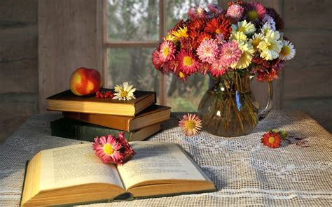 flower picture book mood book book books book books pages flower flowers vase
