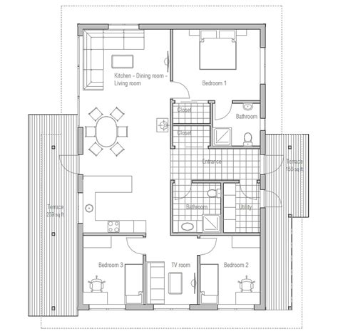 inexpensive floor plans affordable home plans affordable home plan ch32