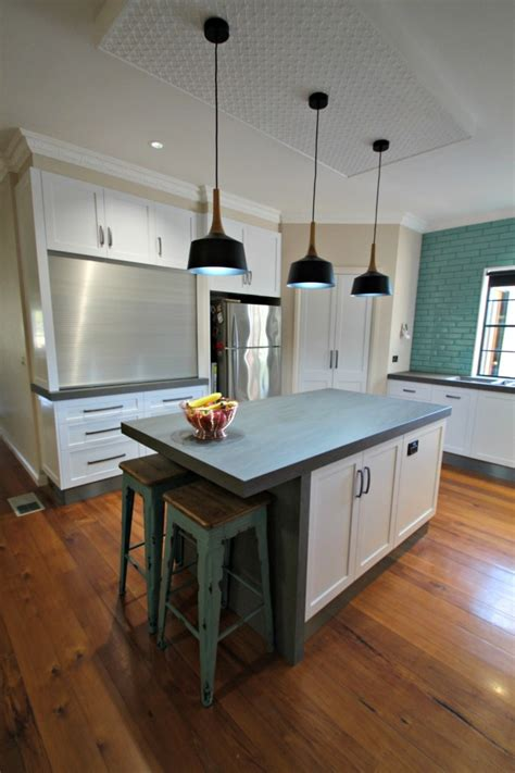 kitchen island with bench ballarat kitchens custom cabinetry island bench design