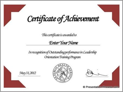 design your own certificate templates create powerpoint certificate template easily