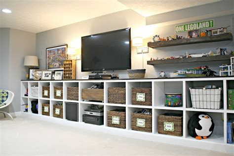 Finished Basement And Rec Room Ideas Finished Basement Storage Ideas