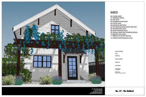 Ballard Design Code no 37 the ballard 800 sq ft 2 story cottage plan