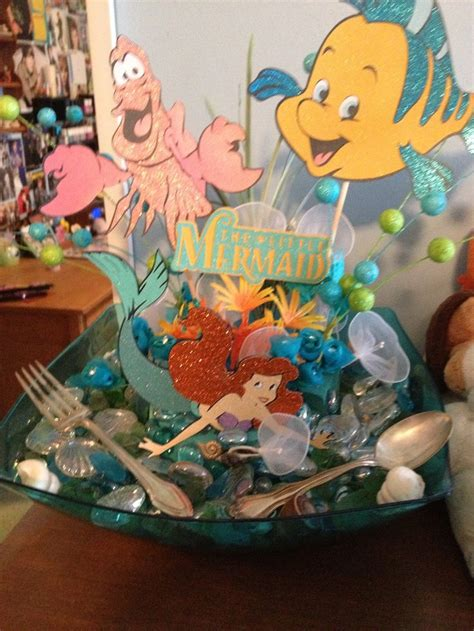 diy the little mermaid centerpiece my huge disney