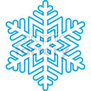 Royalty Free Winter Snowflake Vector Clip Clipart