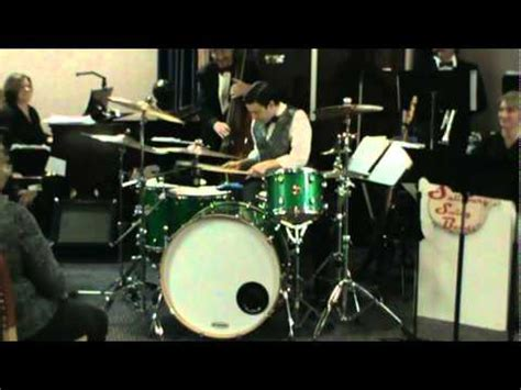 swing drum solo quot jumpin at the woodside quot drum solo austen peters with the