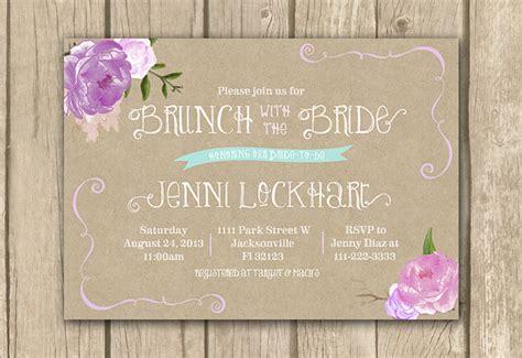free printable bridal shower brunch invitations bridal brunch invitation lilac bridal shower invitation