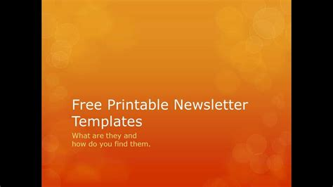 free to free printable newsletter templates searching for free