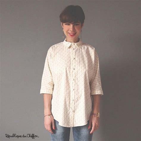 pattern chiffon shirt sewing pattern r 233 publique du chiffon blouse myrcella