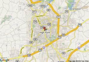 map of high point carolina map carolina highpoint