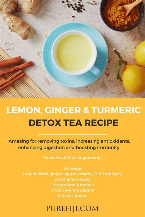 Lemon Turmeric Detox Tea by Diy Skin Care Recipes Lemon Turmeric Detox Tea