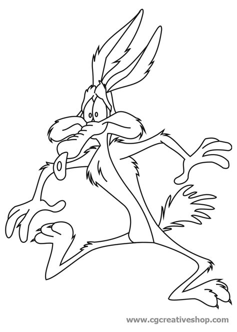 Wile E Coyote On Skates Colouring Pages Wile E Coyote Coloring Pages