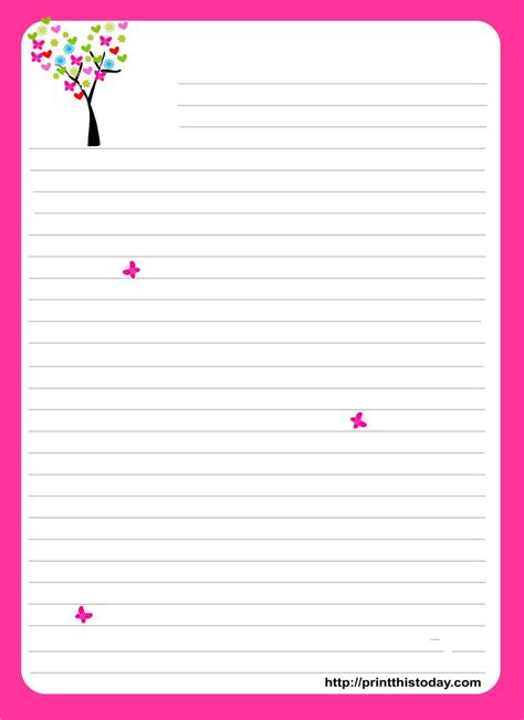 printable stationary free printable stationary cute stationery pinterest