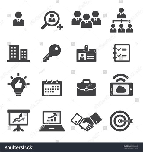 business icons stock vector more images of 524533800 istock business icon stock vector 266862662