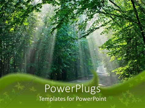 template forest free powerpoint template beautiful light through the