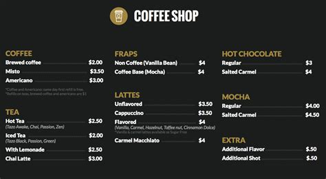 design a coffee shop menu coffee shop launch fishers launch fishers
